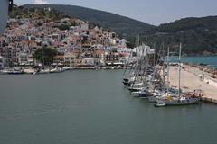 GREECE: Skopolis harbour Stock Photos