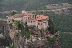 GREECE: Meteora; Varlaam monastery Stock Photos
