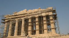 The front of the parthenon in athens, greece Stock Footage