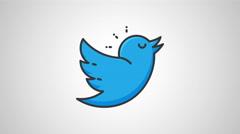 8k - Cartoon twitter icon logo symbol Stock Footage