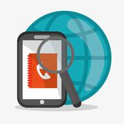 Smartphone and global communication design Stock Illustration