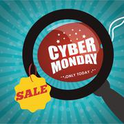 Cyber monday sale event Stock Illustration