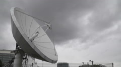 A Satellite Dish Time Lapse in a  cloudy day Stock Footage