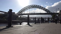 Tyne Bridge at day time in newcastle, united kingdom circa october 2016 Stock Footage