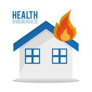 Insurance and health care design Stock Illustration