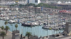 Beautiful Port Vell in Barcelona Stock Footage