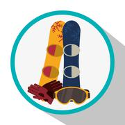 Snowboard and winter sport design Piirros