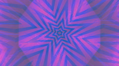 Fractal blue and pink kaleidoscopic background. Stock Footage
