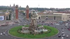 Plaza de Espagna - Espagna Square in Barcelona Stock Footage