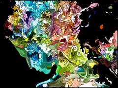 Elegance of Self Fragmentation Stock Illustration