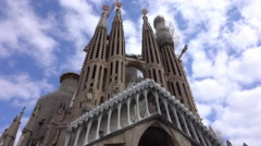 The Sagrada Familia Cathedral in Barcelona Stock Footage