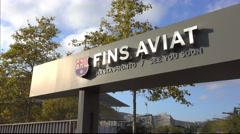 Exit from Camp Nou - FC Barcelona Stock Footage