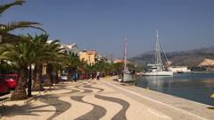 Argostoli harbour on the Greek island of Kefalonia. Stock Footage