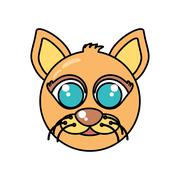 Cat mascot cartoon isolated icon Stock Illustration