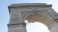 Washington Square Park - Establishing Shot - New YorkCity - summer 2016 Stock Footage