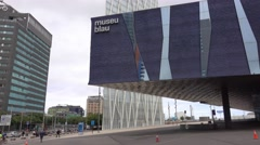 Famous Museu Blau in Barcelona - Natural science museum Stock Footage