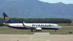 Aircraft of Irish Low Fares Airline Ryanair Stock Footage