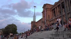 National Palace in Barcelona - Palau Nacional Stock Footage