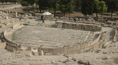 Theatre of dionysus at the acropolis in athens, greece Stock Footage
