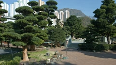 At Chi Lin Nunnery Stock Footage