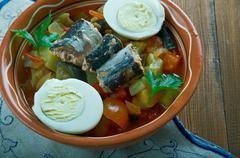 Tunisian Grilled Salad Stock Photos