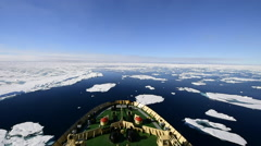 Icebreaker in the ice Stock Footage