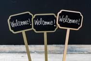 Business message Welcome, Welcome, Welcome Stock Photos