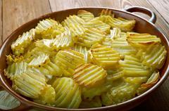 Finnish baked potatoes Kuvituskuvat