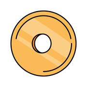 Compact disk isolated icon Stock Illustration