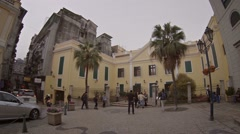 Beautiful, historic buildings in the heart of Macau Stock Footage