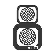 Speaker sound device isolated icon Stock Illustration
