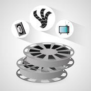 Film reel vhs tv and movie design Piirros