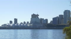 Downtown Vancouver Canada Place Stock Footage