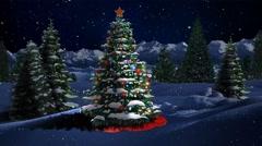 Blue Mountain Christmas Tree 4K Loop Stock Footage