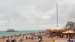 Brighton pebble beach Stock Footage