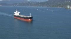 Tanker ship air shot Stock Footage