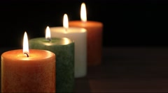 Four Autumn Candles Stock Footage