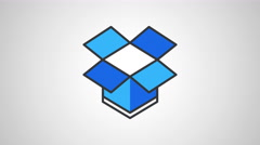 8k - Dropbox icon logo symbol Stock Footage