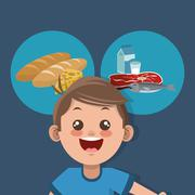Healthy food related icons image Piirros