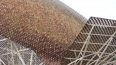 The Golden Fish Sculpture by Frank Gehry in Barcelona - El Peix Stock Footage