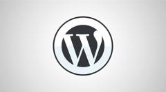 8k - Wordpress icon logo symbol Stock Footage
