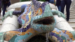 Antoni Gaudi style at Park Guell in Barcelona Stock Footage