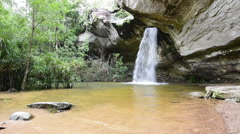 Amazing Thailand of the hole waterfall (Sang chan waterfall)  Stock Footage