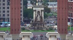Espagna Square roundabout - Plaza de Espagna Stock Footage