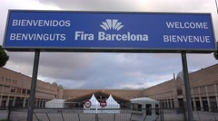 Barcelona Convention Center - Fira Barcelona Stock Footage