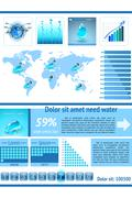 Save Water infographics. Information Graphics Stock Illustration