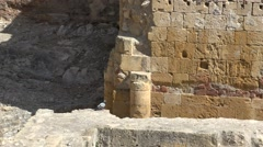 Ancient Roman Ruins And Structures Stock Footage