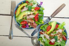 Chicken Avocado salad Stock Photos