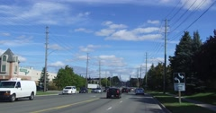 4K Generic driving in city streets of Markham POV Stock Footage