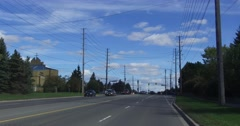 Driving plate in city streets of Markham POV Stock Footage
